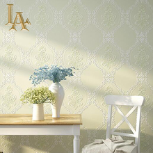 Modern European Simple Plaid Damask Wallpaper For Walls 3 D Luxury Bedroom Nonwoven Embossed Beige Brown