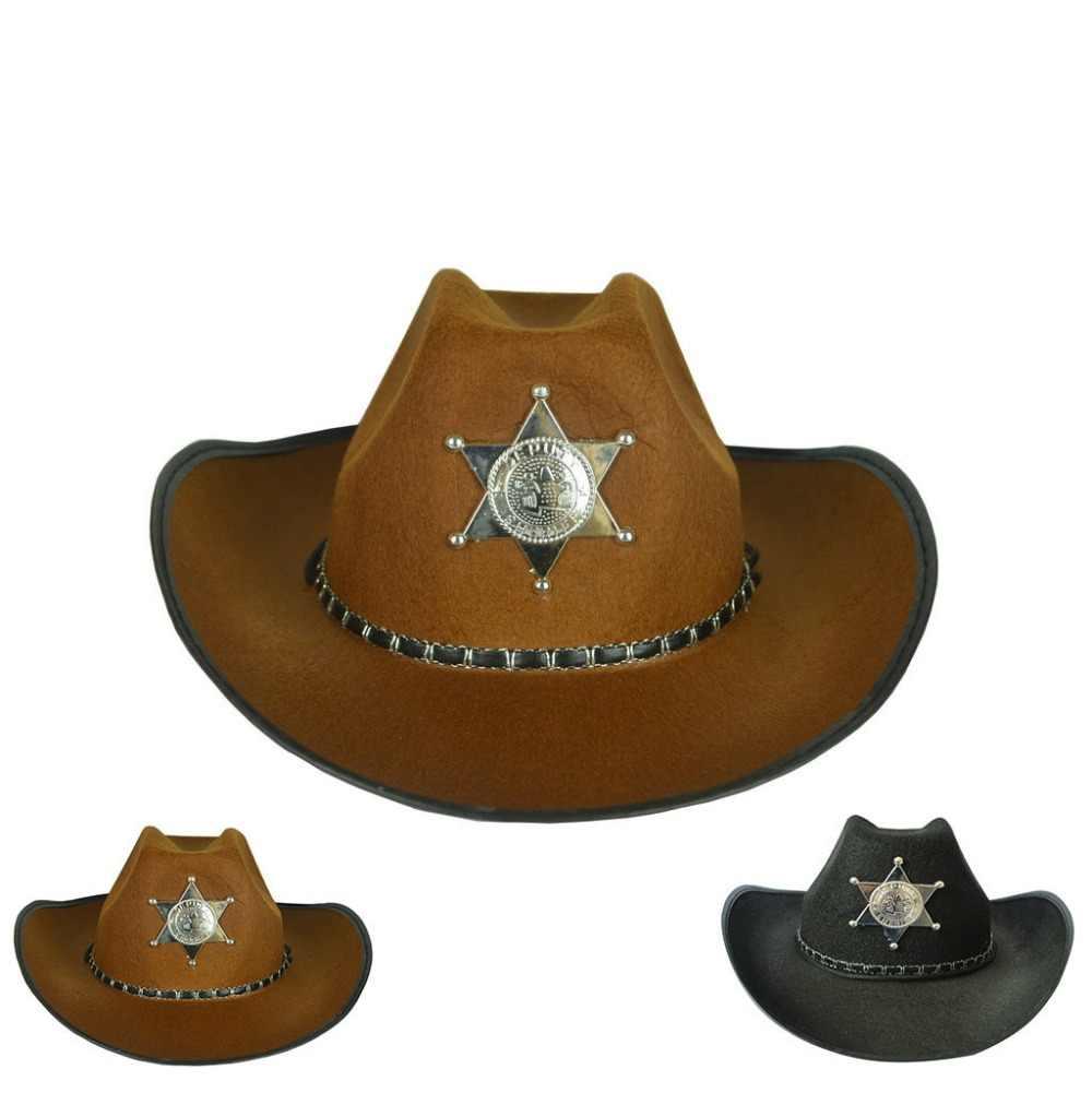 shopping sold worldwide cute cheap Halloween Cowboy Costume Hats Weatern Steampunk hat Black ...