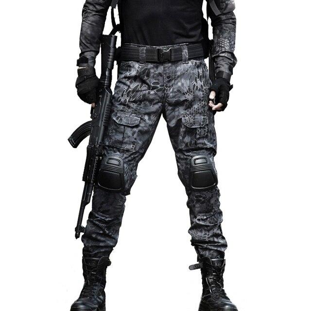 Pantalons Cargo tactiques pour hommes, genouillères militaires, vêtements de Camouflage Airsoft de larmée SWAT, pantalon de Combat de travail sur le terrain