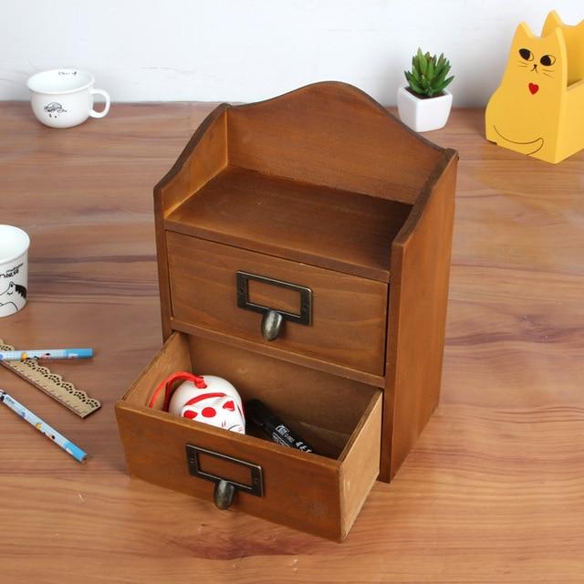 Multifunctional Creative Grocery Box Retro Wood Furniture Drawer Storage Cabinets Organizer A Shelf For Kitchen