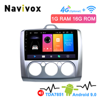 Navivox 2 Din Android 8.1/9.0 Car Multimedia GPS Navigation For Ford Focus 2 3 2004 2011 Exi MT With WiFi Car DVD Radio Stereo