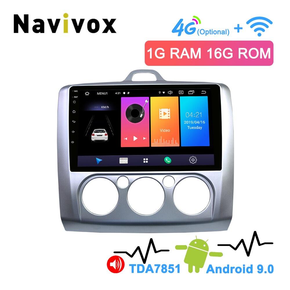 Navivox 2 Din Android 8.1/9.0 voiture multimédia GPS Navigation pour Ford Focus 2 3 2004-2011 Exi MT avec WiFi voiture DVD Radio stéréo