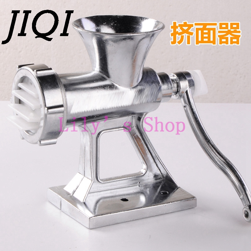 JIQI Multifunction Meat Slicer Hand Cast Iron Manual Meat Grinder Mincer Machine Sausage stuffer Table Crank Tool Kitchen Cutter cast iron manual meat grinder crusher potable food chopper cutter table hand crank tool household kitchen accessories tool