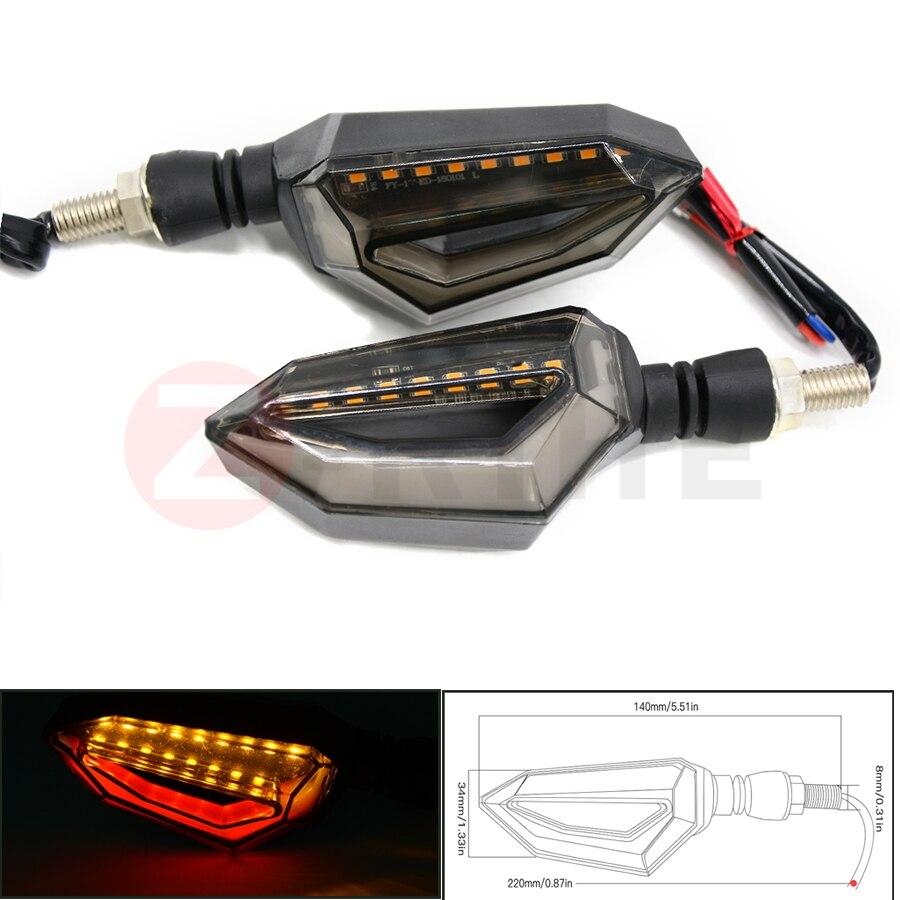Universal Motorcycle Flasher LED Turn Signal Lamp Amber Blinker Light Motorbike Indicator Light For SUZUKI hayabusa gsx1300r K1