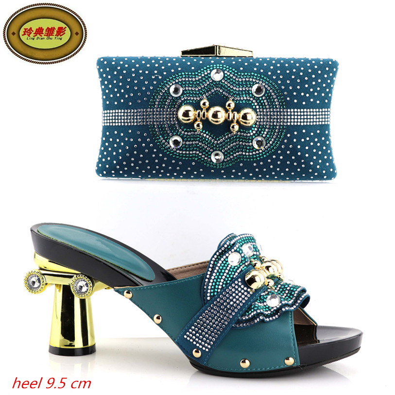 YH01 Hot Sale African Matching Shoes And Bag With Stone Fashion Dress Shoes And Bags Free Shipping cd158 1 free shipping hot sale fashion design shoes and matching bag with glitter item in black