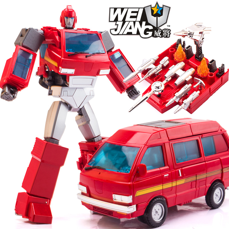 27.5cm WeiJiang Transformation 5 MPP27 Ironhide Oversized MPP 27 Transformation Toy car Robot Action Figure model Last Knight