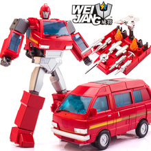27.5cm WeiJiang Transformation 5 MPP27 Ironhide Oversized MPP 27 Transformation Toy car Robot Action Figure model Last Knight mp27 masterpiece ironhide with drill