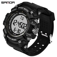 SANDA Sport Watch Men Reloj Hombre Countdown Digital Mens Watches Top Brand Luxury Fashion Waterproof Clock Relogio Masculino