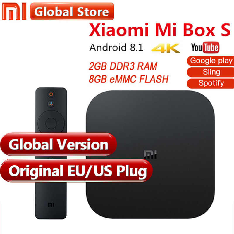 cd3800bd6cf Original Global Version Xiaomi Mi Box S 4 Android 8.1 4K QuadCore Smart TV  Box 2GB