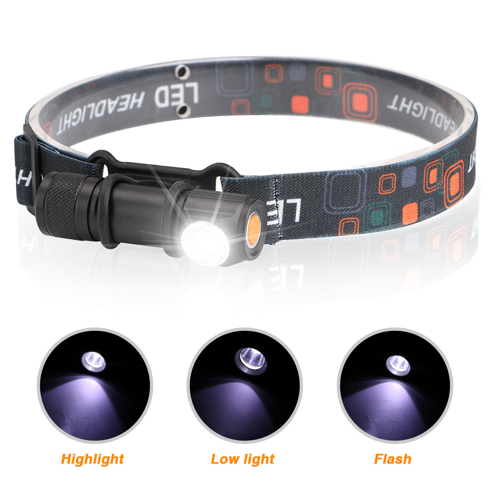 Image 2 - USB Rechargeable Headlamp Headlight LED Flashlight Head Torch Portable Lanterna 3 Mode Magnetic Work Light For Night Fishing-in Headlamps from Lights & Lighting