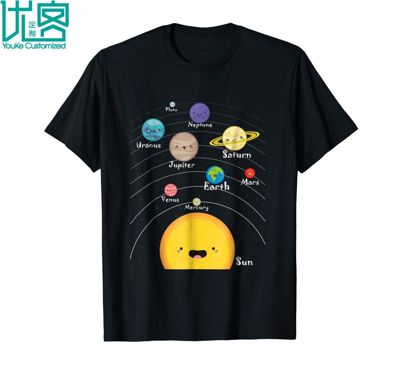 Solar System T Shirt Gift For Space Geeks V2 2019 Summer Men's Short Sleeve T-Shirt