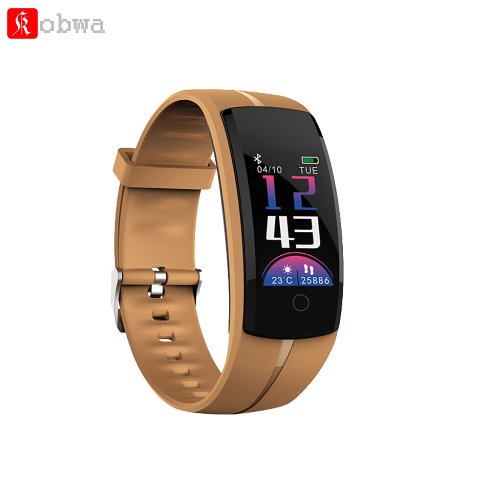 Kobwa QS100 Smart Wristband Bracelet Band Watch Color LCD Fitness Tracker Heart Rate Blood Pressure Monitor Waterproof Pedometer
