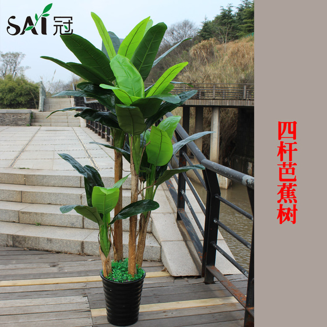 simulation simulation of plant banana trees fake tree potted plants