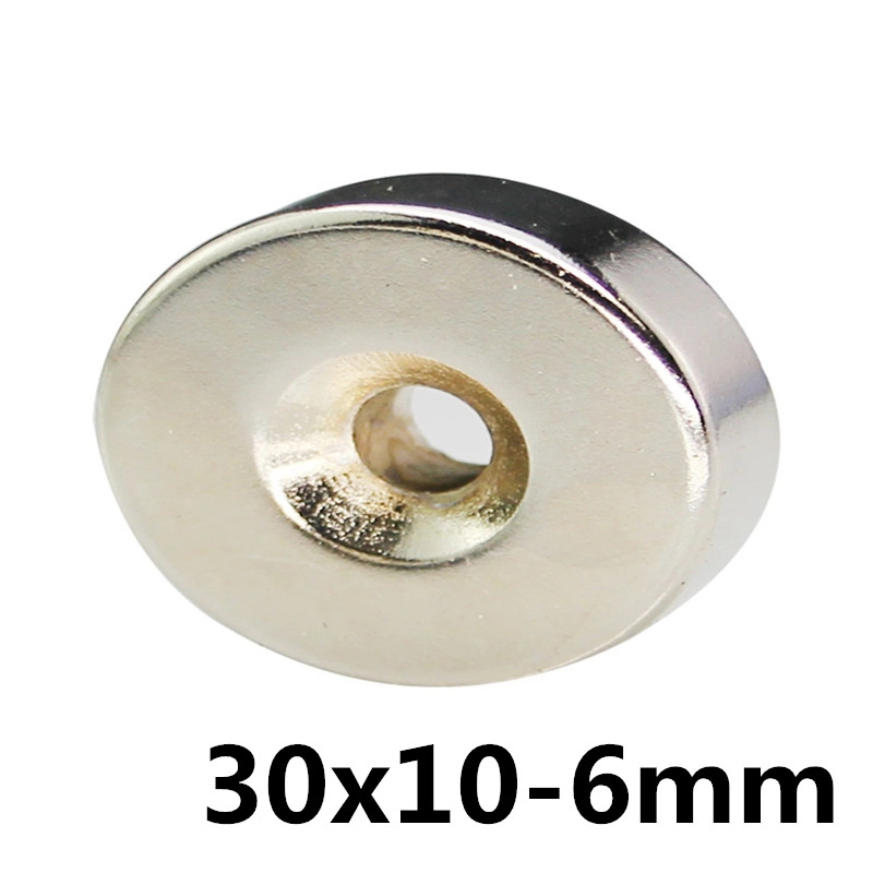 1pcs 30mm x 10mm Hole 6mm N35 Super <font><b>Neodymium</b></font> Round Ring Permanent <font><b>Magnet</b></font> 30*10-6 search <font><b>magnet</b></font> <font><b>30x10</b></font>-6mm image