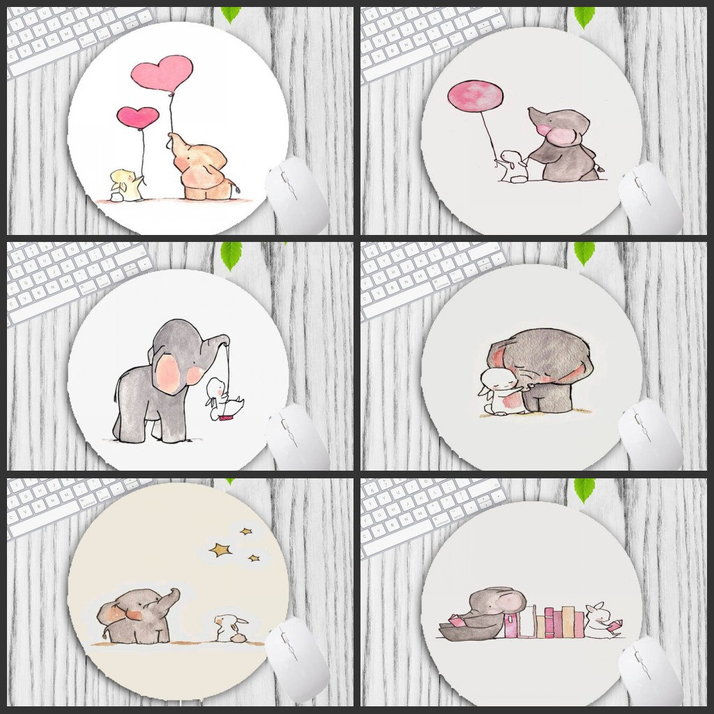 Mairuige Big Promotion Elephant Animal Art Round Mouse Pad Wholesale Pad For Computer Mouse Custom Mousepad Gaming Gamer