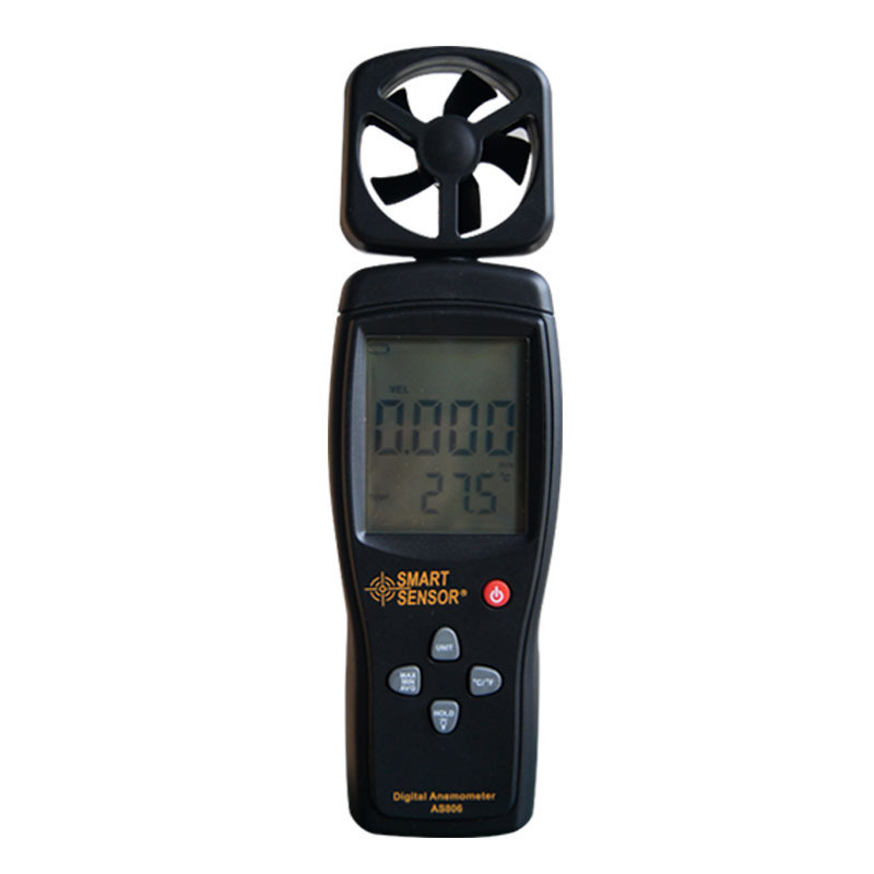 With Carry Box Digital anemometer LCD display AS806 0-45M/S wind speed sensor hand-held Anemometer Thermometer air speed meter high quality gm8901 with box 45m s 88mph lcd digital hand held wind speed gauge meter measure anemometer thermometer