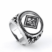 Bahamut Men Jewelry Manufacturers Selling Stainless Steel Rings Titanium One Percent Punk Ring Size 10