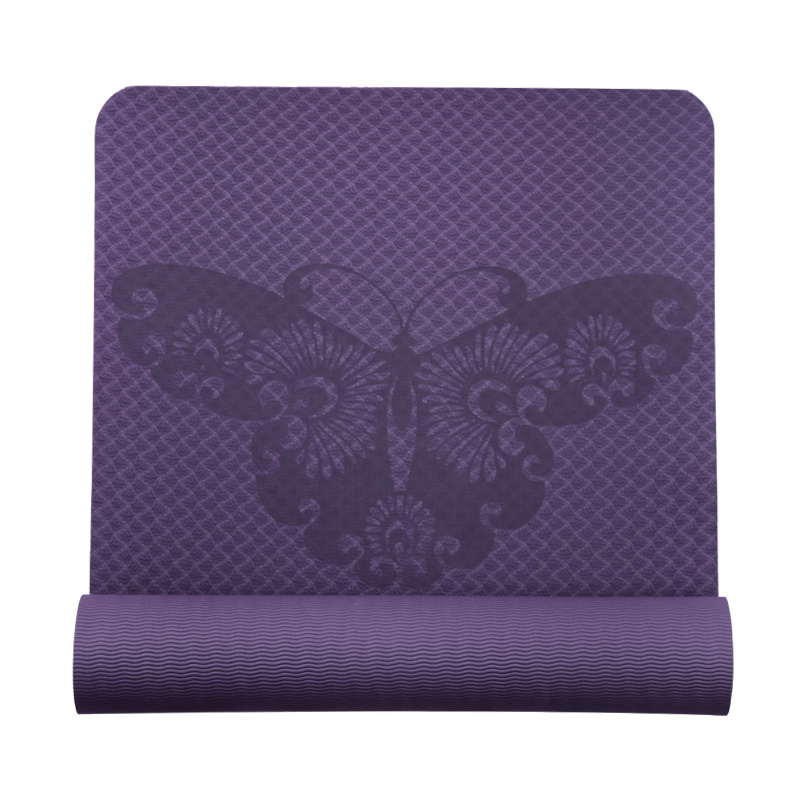 TPE Material Body Alignment System Textured Yoga Mat