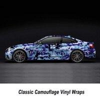 Camo Sticker Bomb Vinyl Wrap blue White Digital Camouflage Vinyl Bubble Free wrapping film 5m/10m/15m/20m/25m/30m