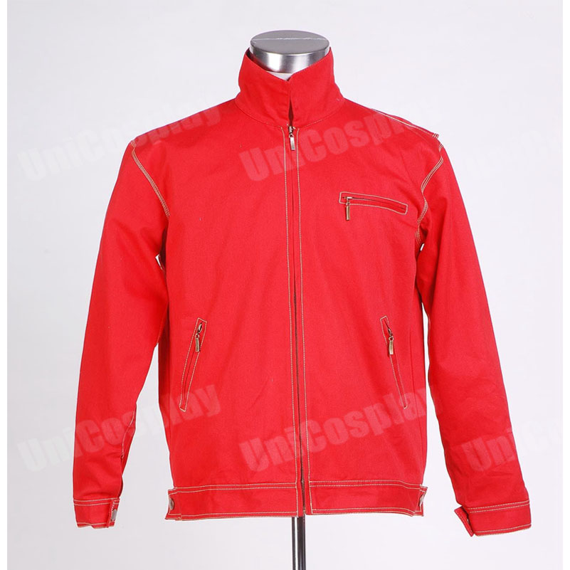 Smallville Clark Kent Red Jacket Cosplay Costume Halloween Coat Outwear for Woman Adult