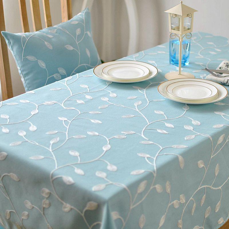 nuevo estilo coreano cena mesa de caf bordado mantel de lino de algodn cubierta para
