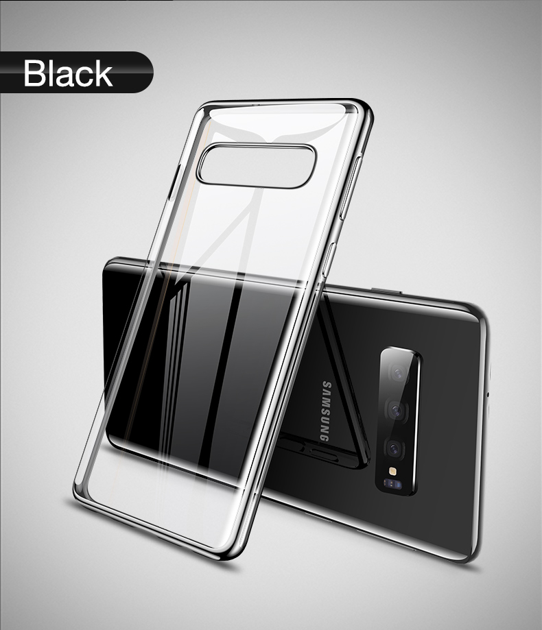 Cafele Plating Transparent Case for Samsung Galaxy S10 Plus S10e Cover Soft TPU Thin Silicon Case for Samsung S10 S10Plus S10e (10)