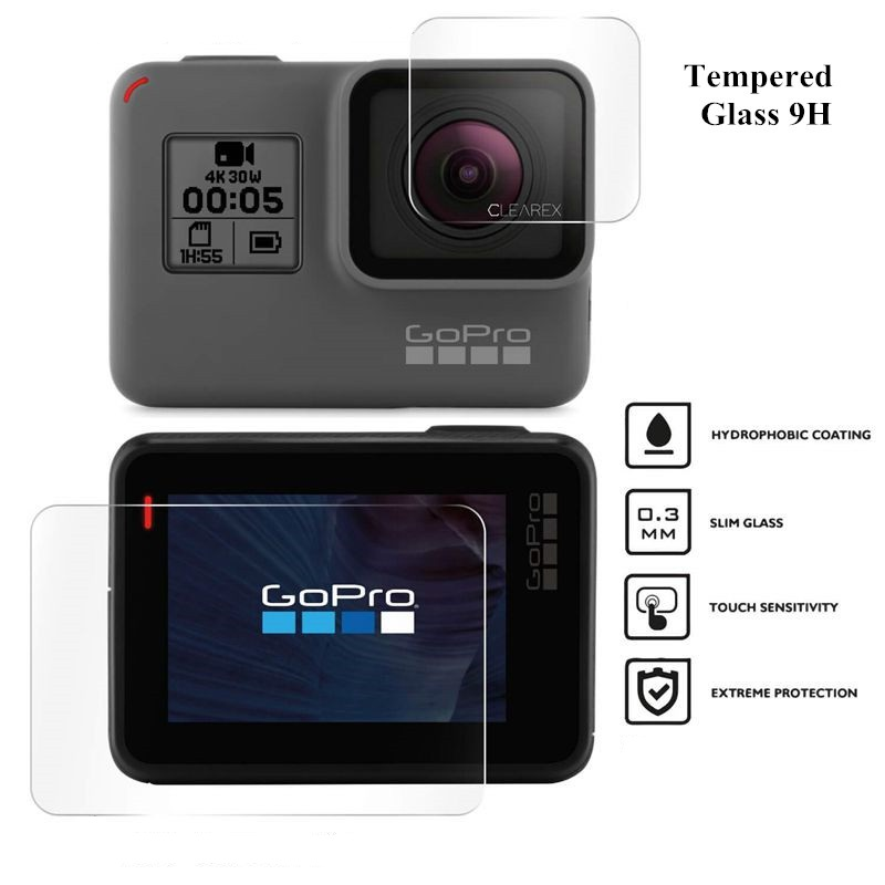 Screen Protector for GoPro Hero 7 Black 6 <font><b>5</b></font> <font><b>2018</b></font> Accessories Protective Film Tempered Glass for Go Pro Hero 7 6 <font><b>5</b></font> Action Camera image