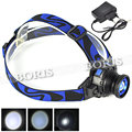 1000Lm Q5 LED Headlight Headlamp Head Lamp Light 4Mode Zoomable Adjust Focus linterna frontal +battery/ charger For Camping