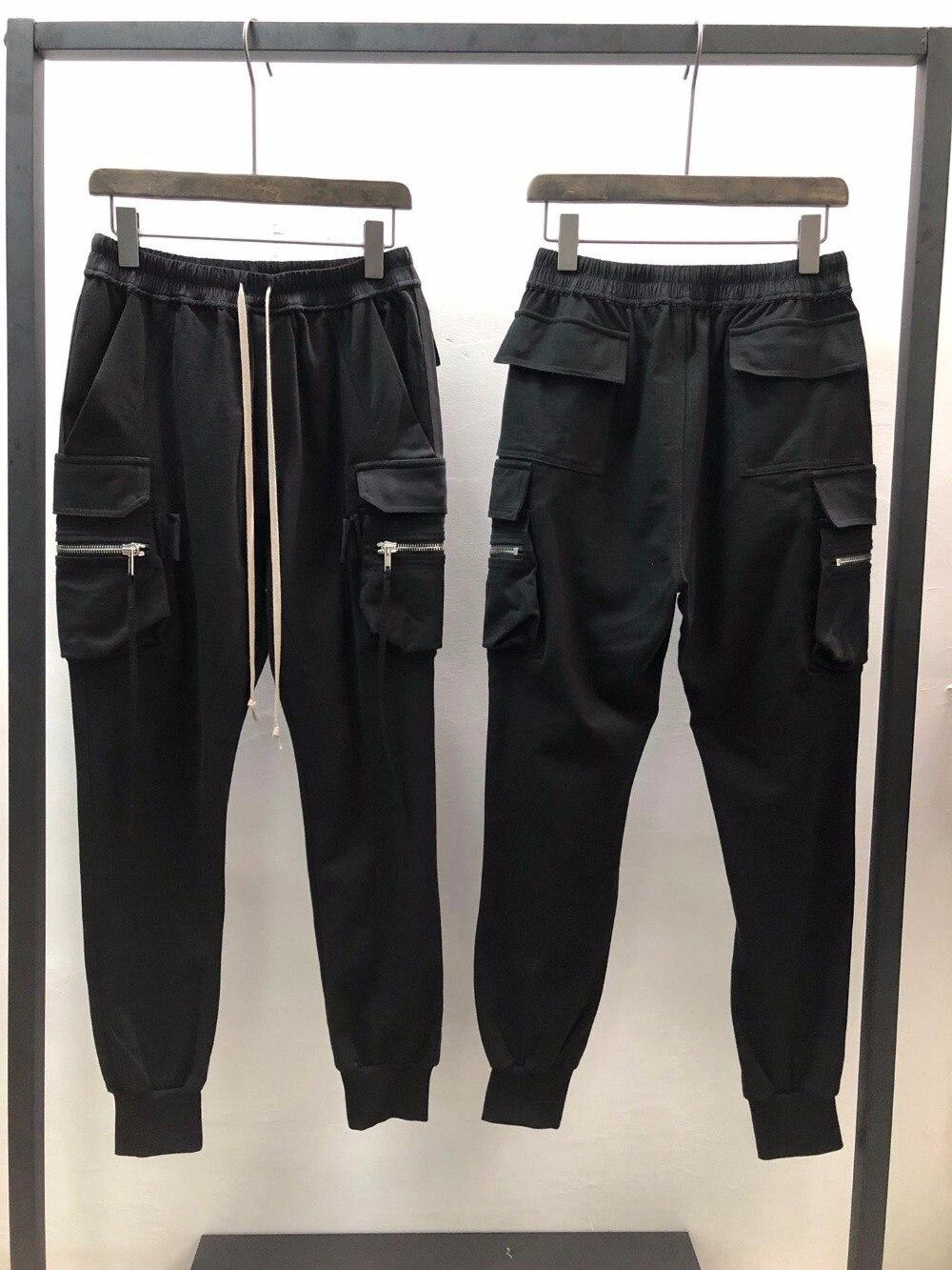 19ss Owen Seak Men Casual Hallen Pants 100% Cotton Gothic Men's Clothing Sweatpants Spring Women Solid Loose Pants Size XL