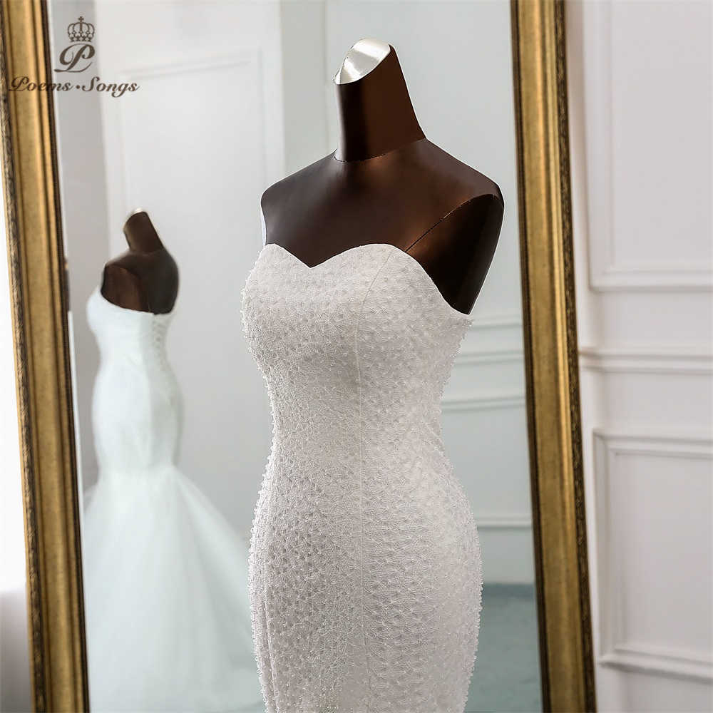 PoemsSongs 2019 New Luxury lace wedding dress robe mariage  Vestido de noiva Mermaid wedding dresses robe de mariee