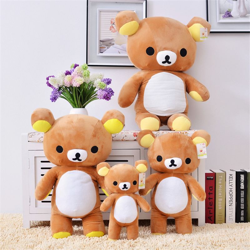 Giant Bear Plush 35/60cm Japan Anime Kawaii Rilakkuma Plush Toys Cheap Bear Plush Pillow Soft Plush Toy for Girls Birthday Gift 6pcs plants vs zombies plush toys 30cm plush game toy for children birthday gift