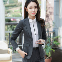 Winter Business Blazer Women Jaqueta Feminine Blazer High Quality Temperament Long Sleeve Jacket Office Plus Size Campera Mujer