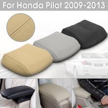 Couvercle d'accoudoir en cuir véritable | Pour voiture Honda/Pilot 2009 2010 2011 2012 noir/gris/Beige