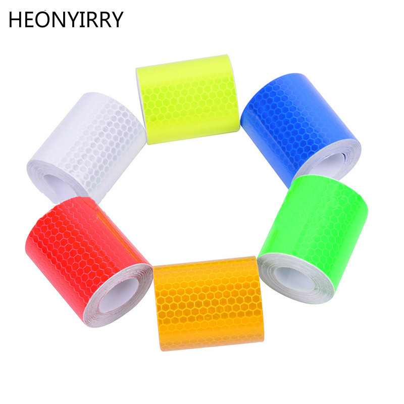 Safety Mark Reflective Tape Sticker Car Styling Self Adhesive Warning Tape Automobiles Motorcycle Reflective Strip 5cmx3m Soft And Light Roadway Safety
