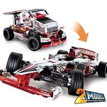DECOOL City Technic Grand Prix Racer 2 in 1 Building Blocks Sets Bricks Kids Model Kids Toys Marvel Compatible Legoe