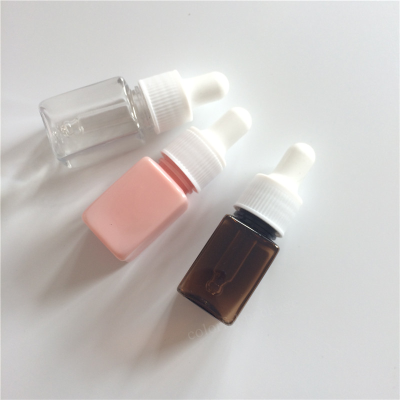 20pcs/lot 10ml Empty Plastic PET Essential Oils Bottles In Refillable Cosmetic Container For Essential Oils Dropper