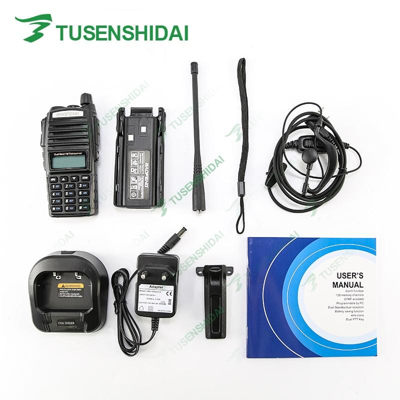 2PCS Original Tri-Power 8W/4W/1W Baofeng UV-82 plus VHF 136-174MHZ UHF 400-520MHZ Dual PTT Ham Portable Tranceiver