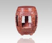 Garden круглый стул с западными цветок палисандр Малый сиденье Китай Классическая античная Гостиная твердой деревянной мебели для столовой