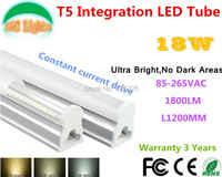 18 W Ultra Luminoso Senza Aree Scure T5 Integrazione LED Tube CE RoHS Shopping plaza luci Supermercati lampada a risparmio energetico 10 Pz un lotto
