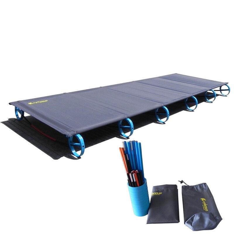 2018 Heißer Verkauf Camping Matte Ultraleicht Robust Komfortable Tragbare Falten Zelt Bett Bett Schlafen Outdoor Camp Bett Aluminium Rahmen