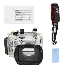 Image 5 - لكانون G11 G12 كاميرا مثبت مضاد للماء PC البلاستيك حالة شفافة غطاء الغوص تصنيف عمق 40 m كاميرا مراقبة وظائف