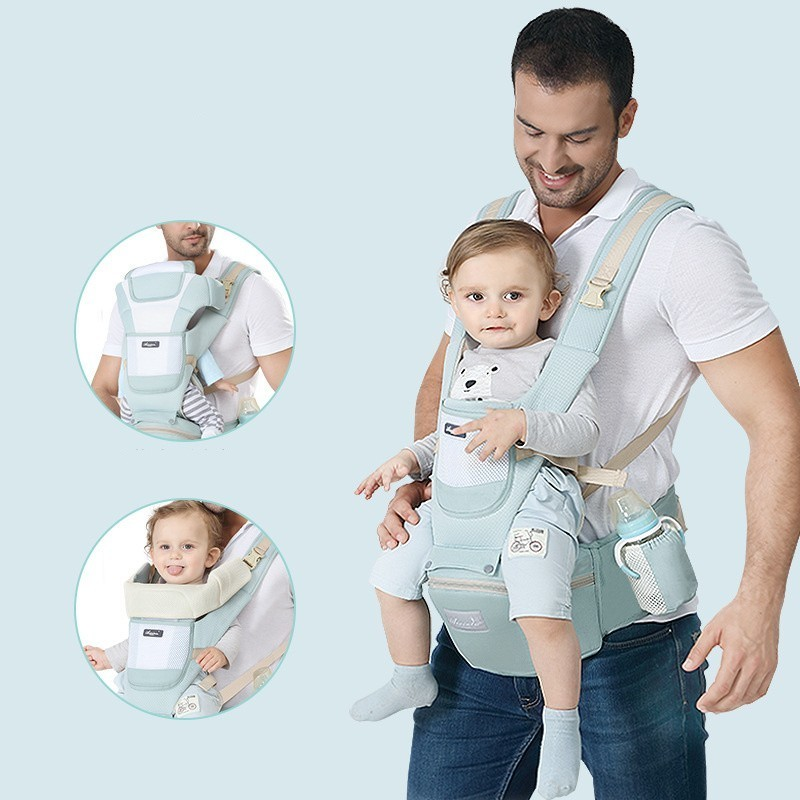 Ergonomic new born Baby Carrier Infant Kids Backpack Hipseat Sling Front Facing Kangaroo Baby Wrap for Baby Travel 0-36 months 3
