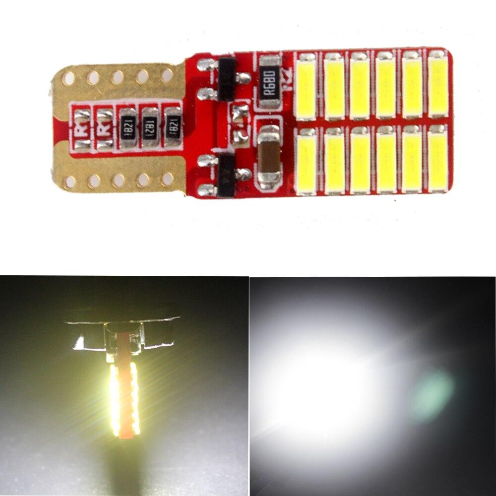Led 100X T10 3014 24 SMD Super Bright Canbus ERROR FREE W5W 194 168 24 LEDs