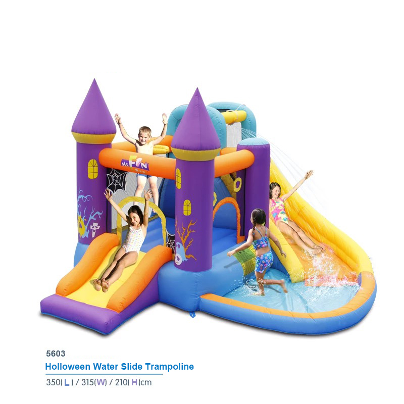 halloween water slide bounce house inflatable trampoline jumping bouncy castle bouncer jumper indoor outdoor playground for - Water Slide Bounce House