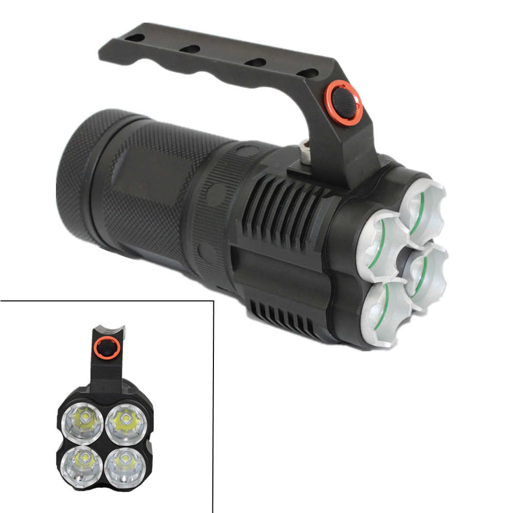 Tactical CREE XM-L2 Flashlight 4x L2 LED 3800LM 4 Modes Light Torch 18650 Lamp for Outdoor fishing hunting 15000 lumens 9x cree xm l t6 led flashlight torch tactical hunting 18650 torch