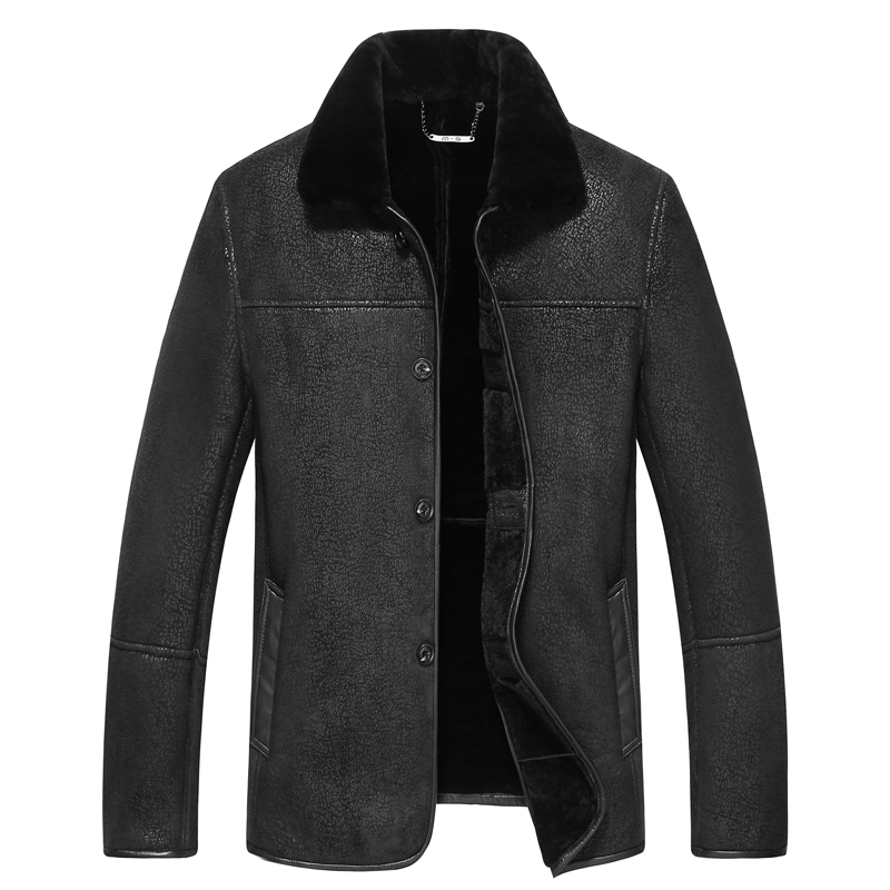 Leather Jacket Men Coats 6XL 7xl 8xl 9xl Brand High Quality sheepskin Outerwear Men Business Winter wool Fur Male Jacket Fleece(China)