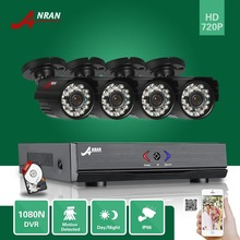 ANRAN Surveillance 4CH HDMI 1800N AHD DVR 500GB HDD 1800TVL 720P 24 IR Night Waterproof Bullet Video Security Camera CCTV System