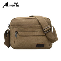 Aramte Canvas Men S Crossbody Bag Over Shoulder Messenger Bags Casual Bags Men Male Handbag Travel