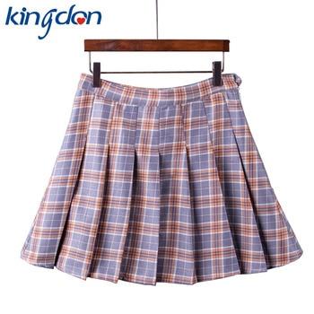 summer American School Style Fashion Women elegant half Pleated mini Skirts high waist casual girls skirts women leggings skirt Юбка