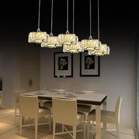 Led Crystal Chandelier Light For Aisle Porch Hallway Stairs Crystal Ring Dining Light Wth Led Light